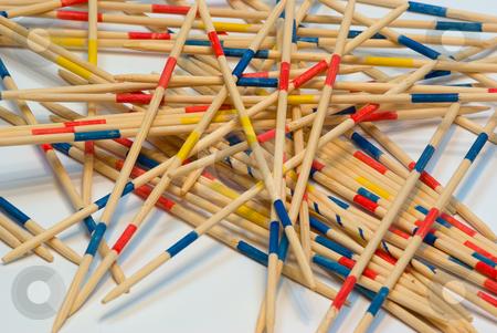 Mikado stock photo, Mikado ist ein bekanntes Geschicklichkeitsspiel aus Europa, das aus dem Chien Tung-Orakel entstanden ist: Mikado besteht ebenfalls aus mehreren bunten Holzst?bchen. by Wolfgang Heidasch