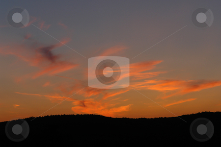 Sunset stock photo,  by Wolfgang Heidasch
