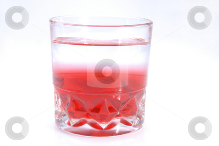 Fresh water stock photo, Glass of fresh water and juice on white background by Joanna Szycik