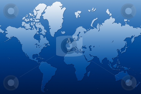 Earth stock photo, A illustration of a map of the world by Markus Gann