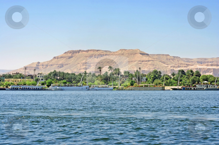 Luxor Nil stock photo, A photography of an old historic place in Luxor Egypt by Markus Gann
