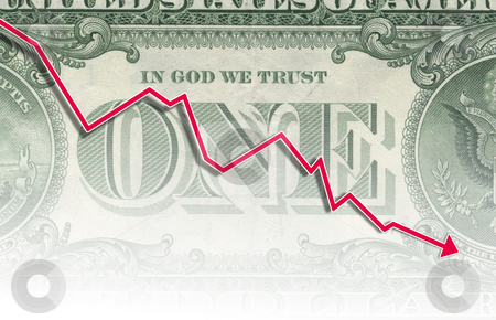 One dollar note stock photo, A illustration of a falling down dollar note expiration by Markus Gann