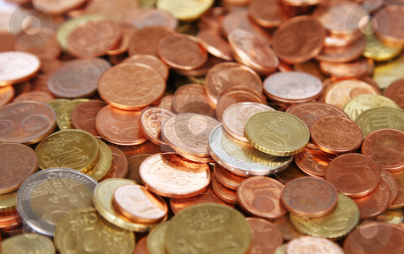 Euro Cent stock photo, A background Photography of the Euro Cent by Markus Gann