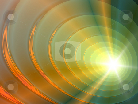 Fractal circles stock photo, An illustration of an abstract fractal graphic. by Markus Gann