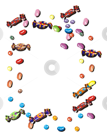 Candy frame stock photo, An illustration of a colorful candy frame by Markus Gann