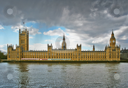 Houses of parliament stock photo, A photography of the Houses of parliament in London UK by Markus Gann