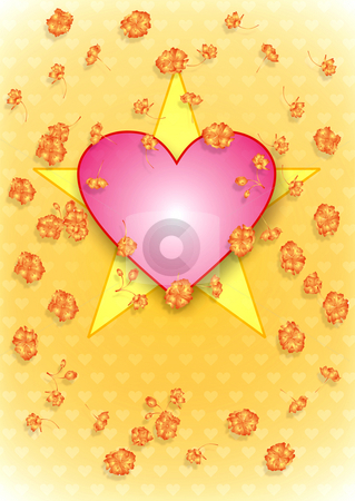 Hearts stock photo, An illustration of a mothers day background with hearts by Markus Gann