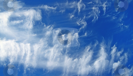 Cloudscape stock photo, A photography of a blue and white cloudscape by Markus Gann