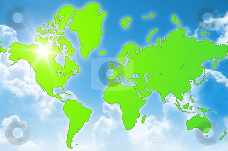Green world environment stock photo, A illustration of a green world environment by Markus Gann