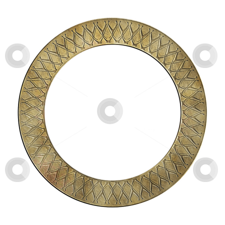 Old frame stock photo, A illustration of an old circle frame by Markus Gann