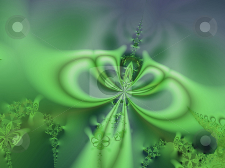 Green fractal stock photo, An illustration of an abstract fractal graphic. by Markus Gann