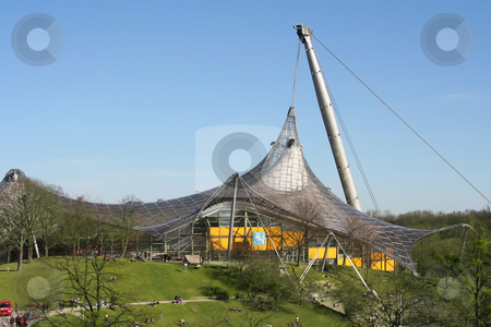Roof stock photo, A photography of the roof of the olympic stadium in munich by Markus Gann