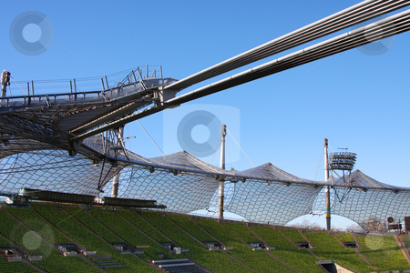 Olympic stadion in munich stock photo, A photography of the olympic stadion in munich by Markus Gann