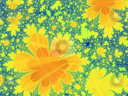 Flower fractal stock photo, An illustration of an abstract fractal graphic. by Markus Gann
