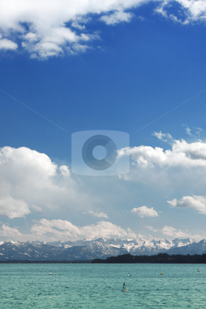 The alps stock photo, A photography of a lake at the alps in germany by Markus Gann