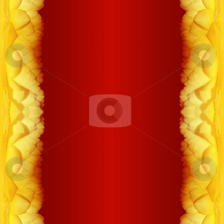 Red background with rose border stock photo, A illustration of a red background with rose border by Markus Gann