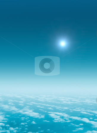 Flight above the sky stock photo, A photography of a flight above the sky by Markus Gann
