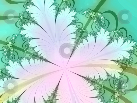 White flower fractal stock photo, An illustration of an abstract fractal graphic. by Markus Gann