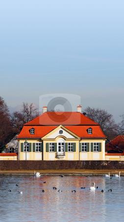 Nymphenburg Munich Bavaria Germany stock photo, A Photograph of a house at Nymphenburg Munich Bavaria Germany by Markus Gann