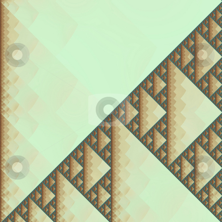 Fractal sierpinski stock photo, An illustration of an abstract fractal graphic. by Markus Gann