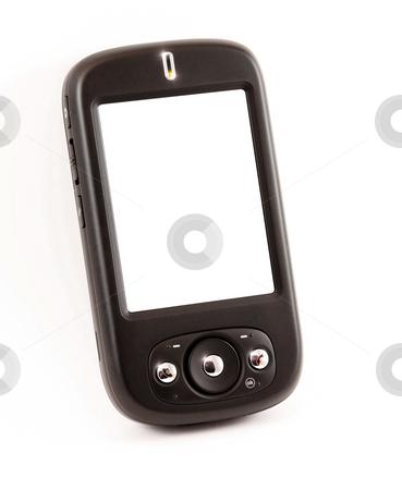 Smart phone with empty screen stock photo, A photography of a smart phone with an empty screen by Markus Gann