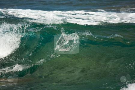 Crashing Wave on the Napali Coast stock photo, Crashing Wave on the Napali Coast, Kauai by Andy Dean
