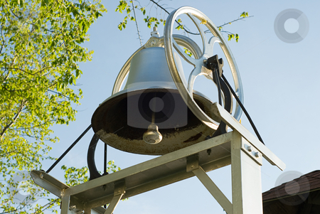 School Bell stock photo, Close-up view of an old school bell by Richard Nelson
