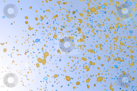 Balloons stock photo, Balloons in the sky by Kjell Westergren