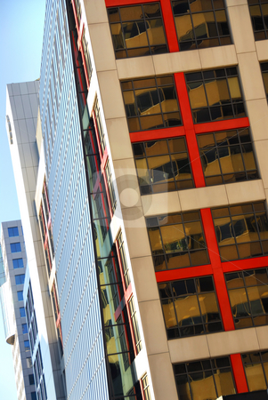 Modern office buildings stock photo, Row of modern office buildings, architectural abstract by Elena Elisseeva
