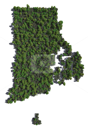 Rhode Island in Trees stock photo, The shape of Rhode Island grown in trees. by Allan Tooley