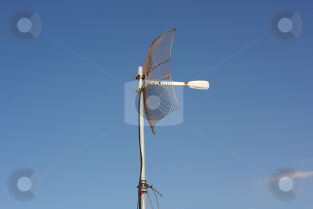 Parabolic Grid Antenna stock photo, A parabolic grid antenna for long-distance wireless network connections by Georgios Alexandris