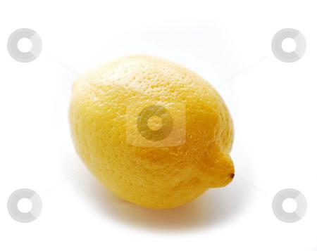 Lemon stock photo, Whole lemon on white background by Elena Elisseeva