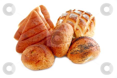 Bread on white stock photo, Bread on white background by Elena Elisseeva