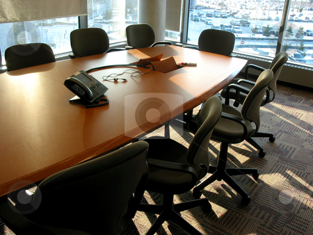 Meeting room stock photo, Empty business meeting or conference room by Elena Elisseeva