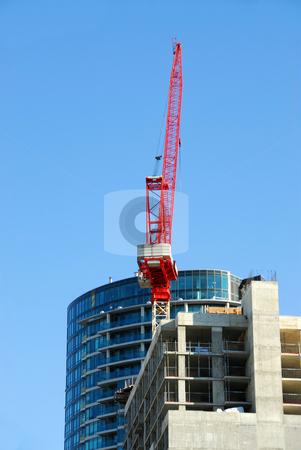 Construction of skyscraper stock photo, Construction of skyscraper downtown by Elena Elisseeva