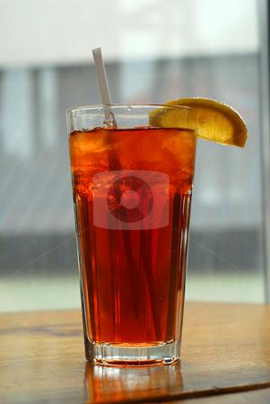 Lemon iced tea stock photo, Lemon iced tea in a tall glass by Elena Elisseeva