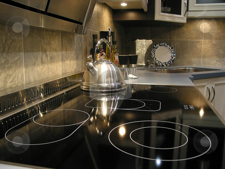 Modern kitchen interior stock photo, Interior of modern kitchen by Elena Elisseeva