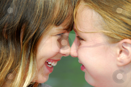 Two girl friends stock photo, Portrait of two young girl friends by Elena Elisseeva