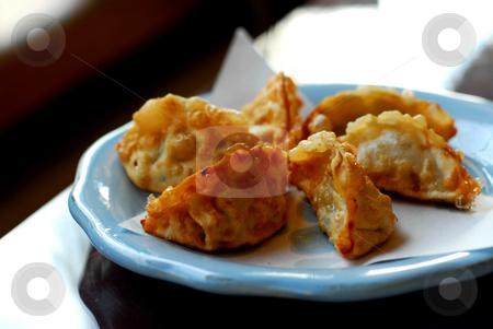 Dumplings stock photo, Deep fried dumplings by Elena Elisseeva