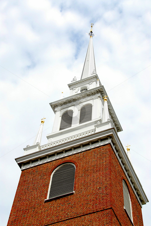 Old North Church in Boston stock photo, Steeple of Old North Church in Boston historical North End by Elena Elisseeva