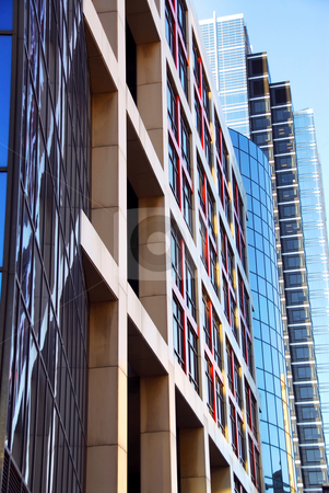 Modern office buildings stock photo, Row of modern office buildings, urban architectural abstract by Elena Elisseeva