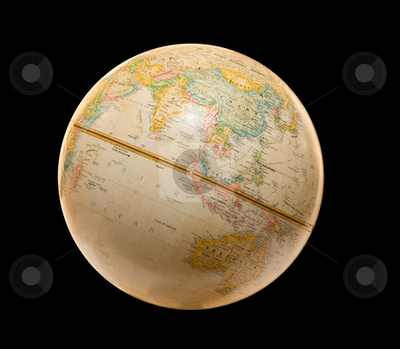 Earth stock photo, A model of the planet earth, isolated on a black background by Richard Nelson