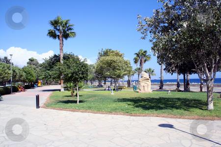 Park in Ayia Napa Cyprus stock photo, Promenade and park in Ayia Napa Cyprus by Martin Crowdy