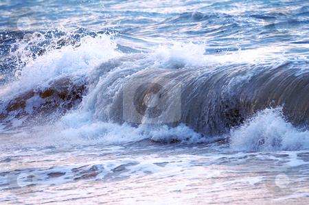 Wave in stormy ocean stock photo, Big crashing wave in a stormy ocean by Elena Elisseeva