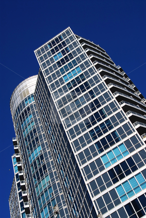 Modern condominium building stock photo, Architectural abstract of modern condo building fragment by Elena Elisseeva