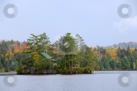 Cabin on island