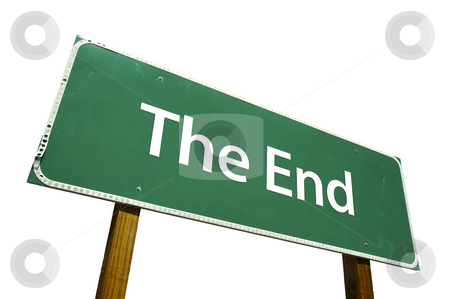 The End Road Sign with Clipping Path stock photo, The End Road Sign isolated on White with Clipping Path by Andy Dean