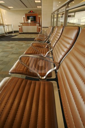 Airport Seating Abstract stock photo, Airport Seating and Gate Counter Abstract by Andy Dean
