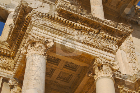 The Celsus Library stock photo, The Celsus Library detail image - Ephesus, by Andy Dean