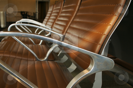 Airport Seating Abstract stock photo, Airport Seating Abstract by Andy Dean